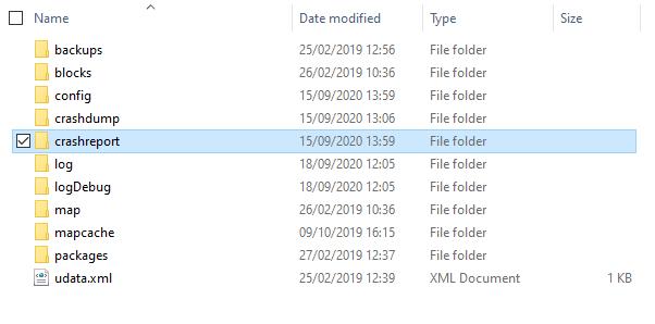 crashreport folder