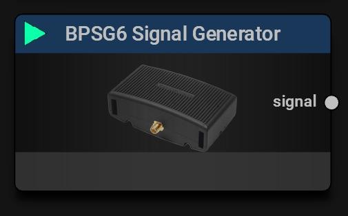 BPSG6 Signal Generator Block | Main Device Control