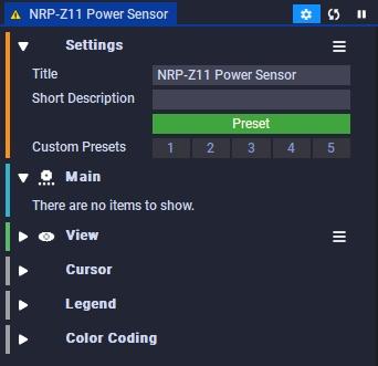 NRP-Z11 Power Sensor Settings