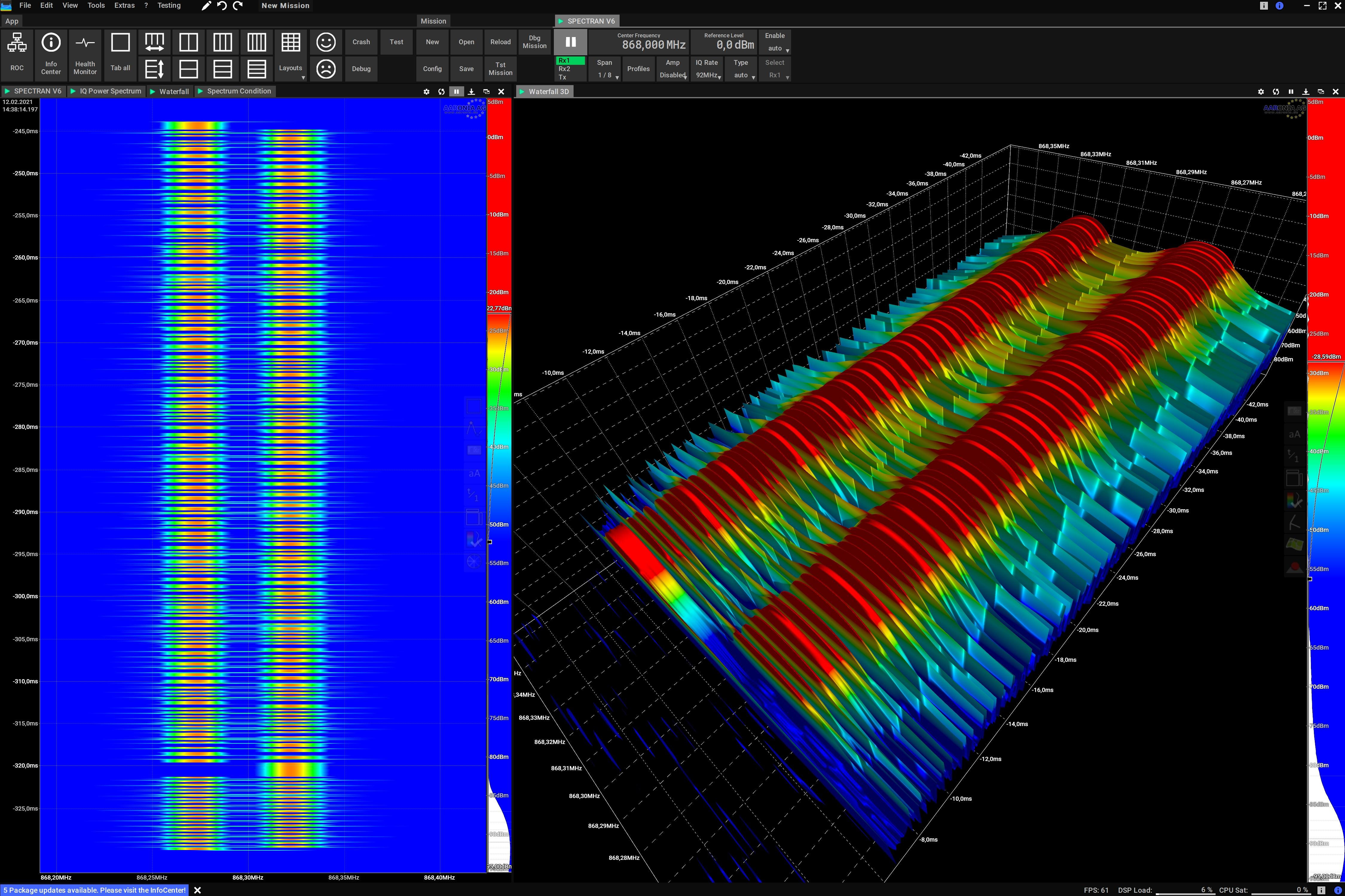 ISM868 GFSK Modulation Spectrum