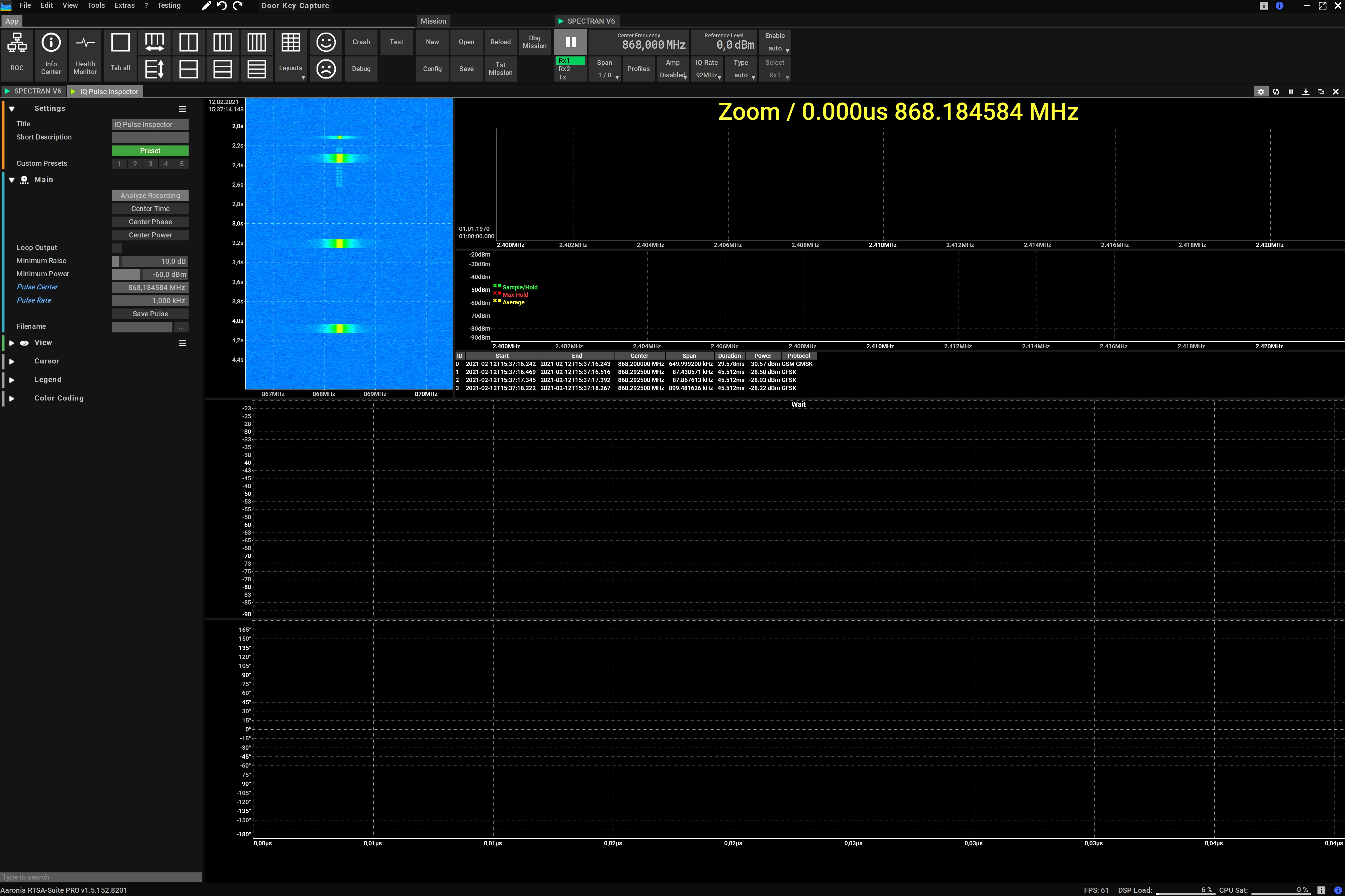 Automatic ISM868 Car Key Decoding