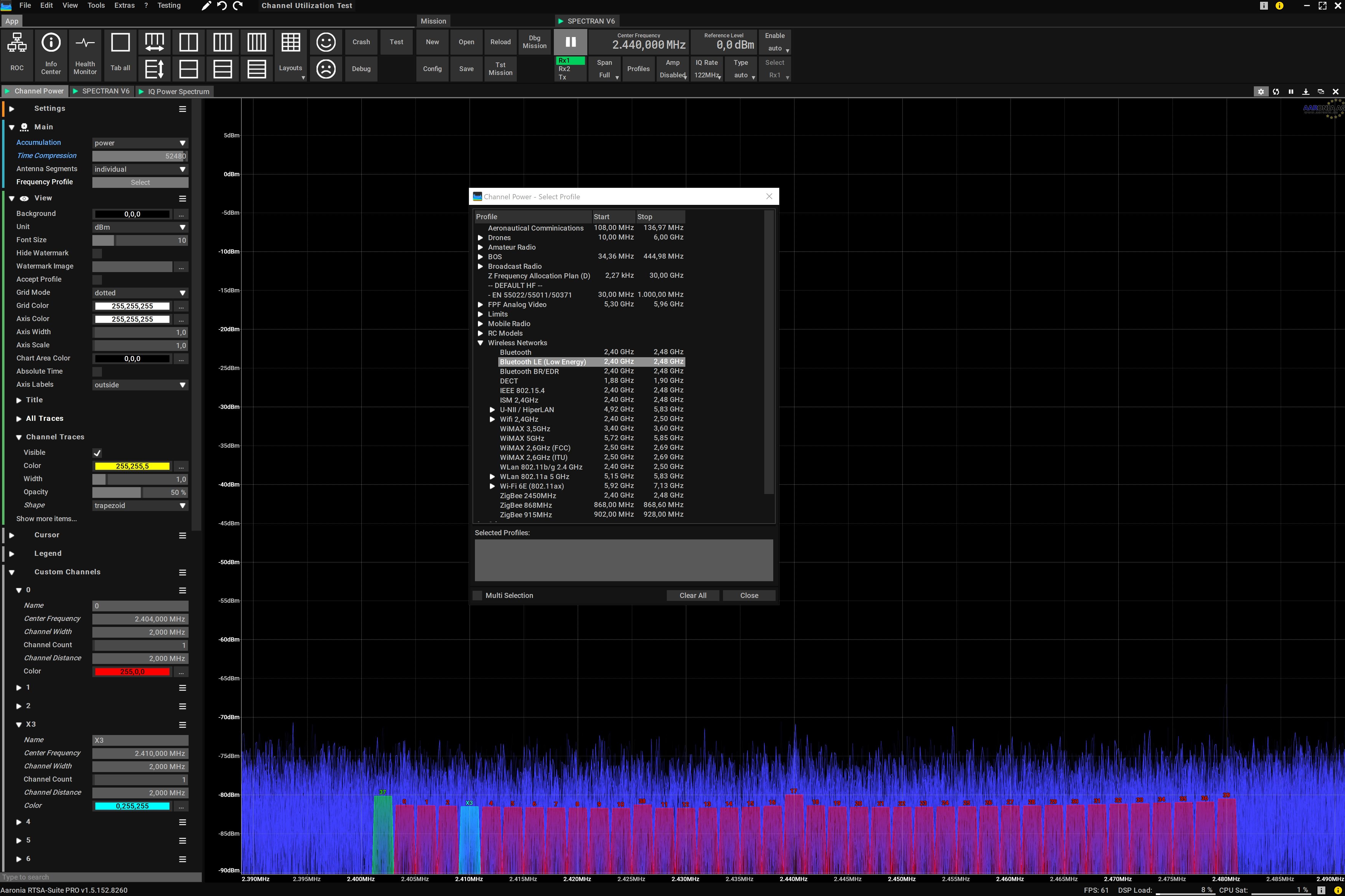 Channel Power Screenshot