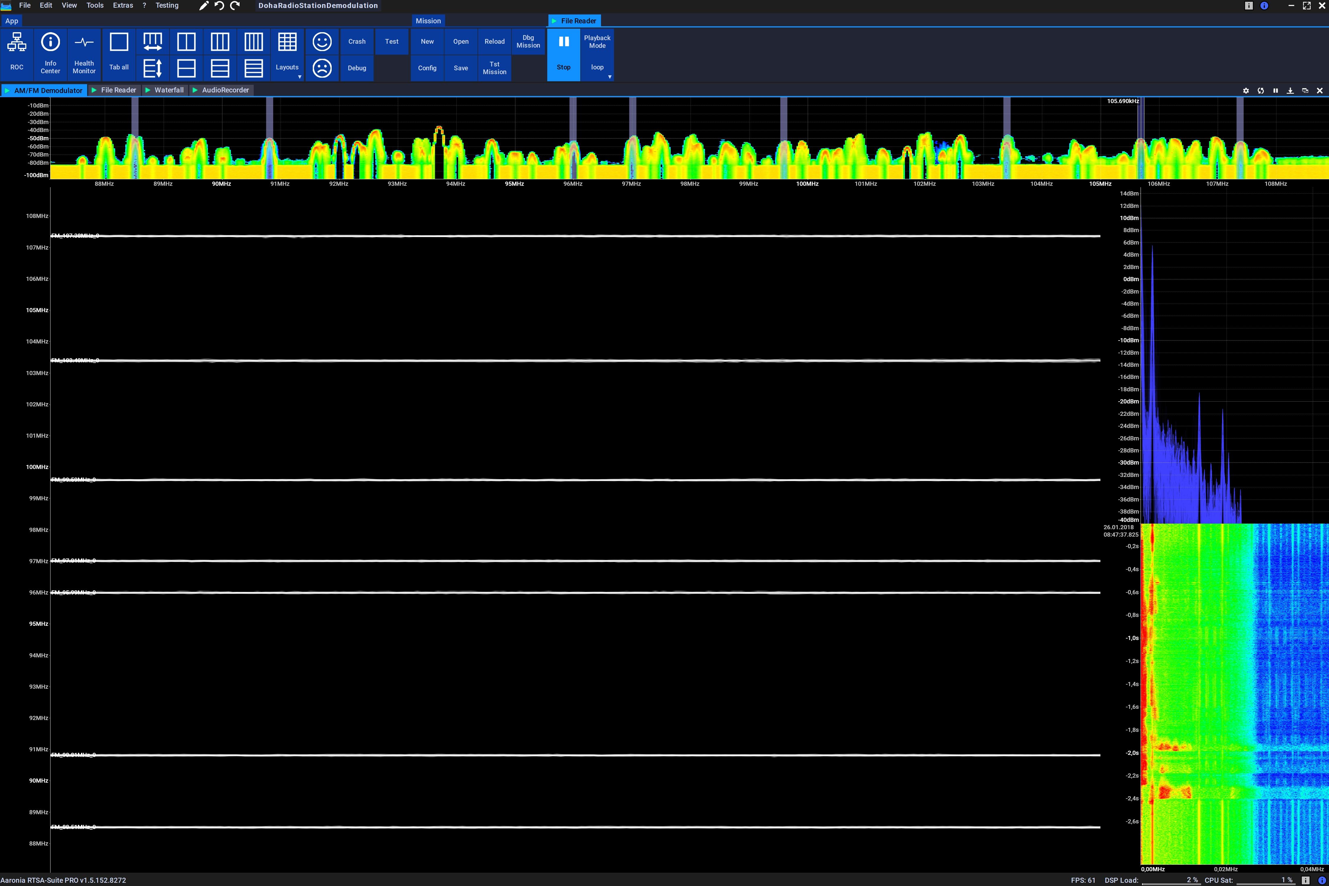 AM / FM Demodulator Radio Stations Decoding Screenshot