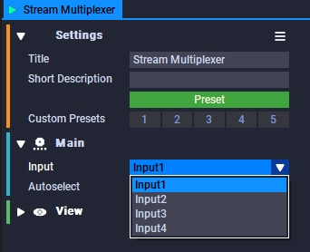Stream Multiplexer Block Setup