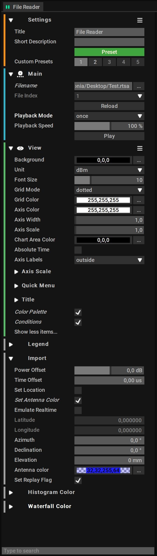 File Reader Block Settings
