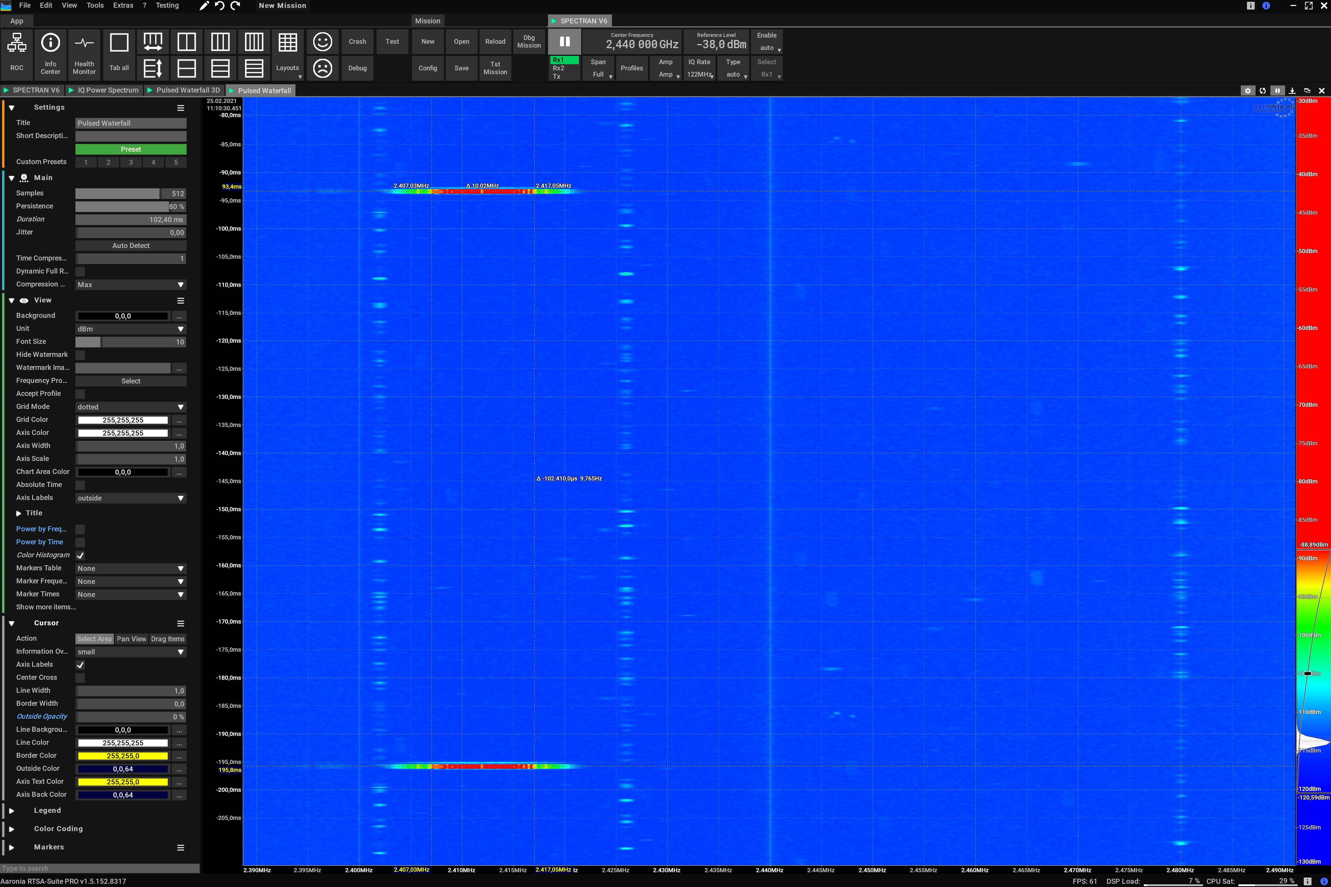 1ms WiFi 802.11 Beacon Signal