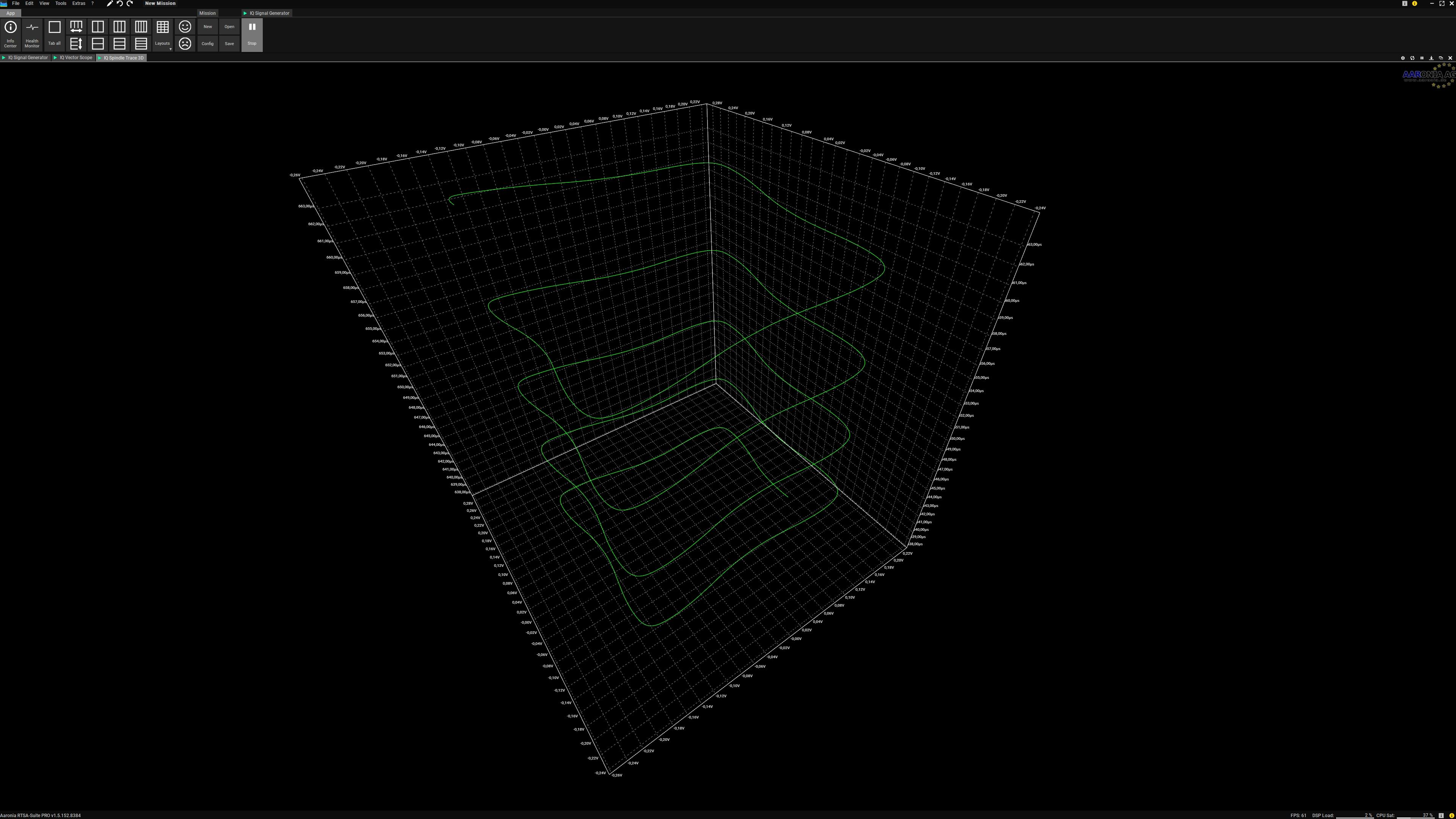 IQ Spindel Trace 3D 16QAM Demo Screenshot