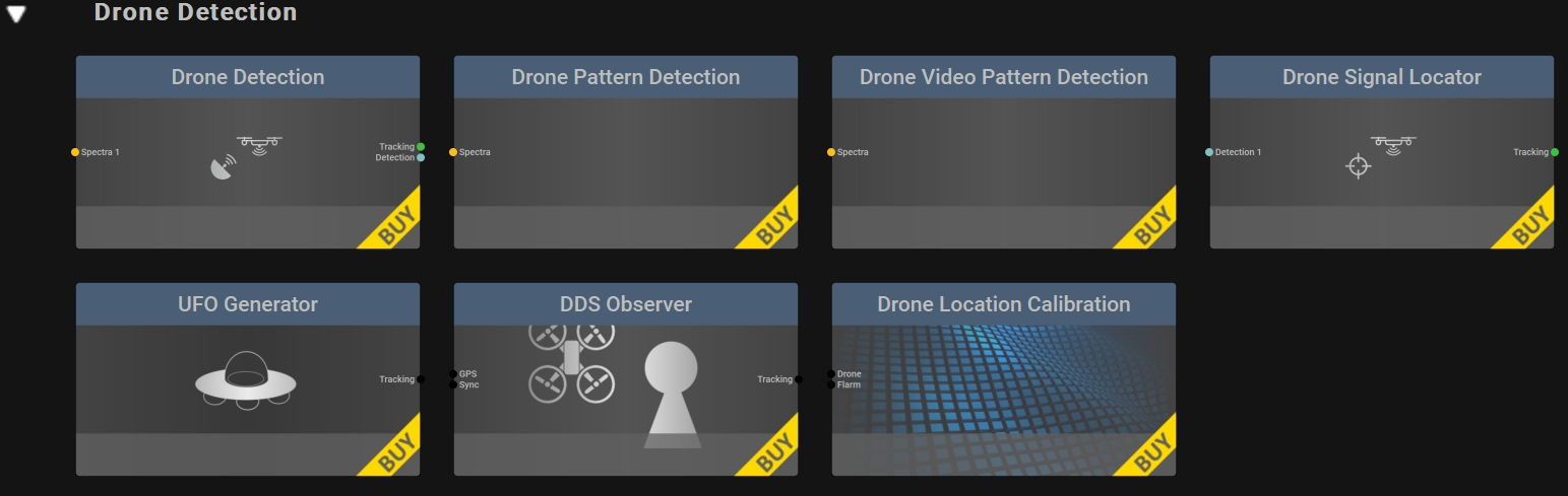 All Drone Detection Blocks for the RTSA-Suite PRO Software