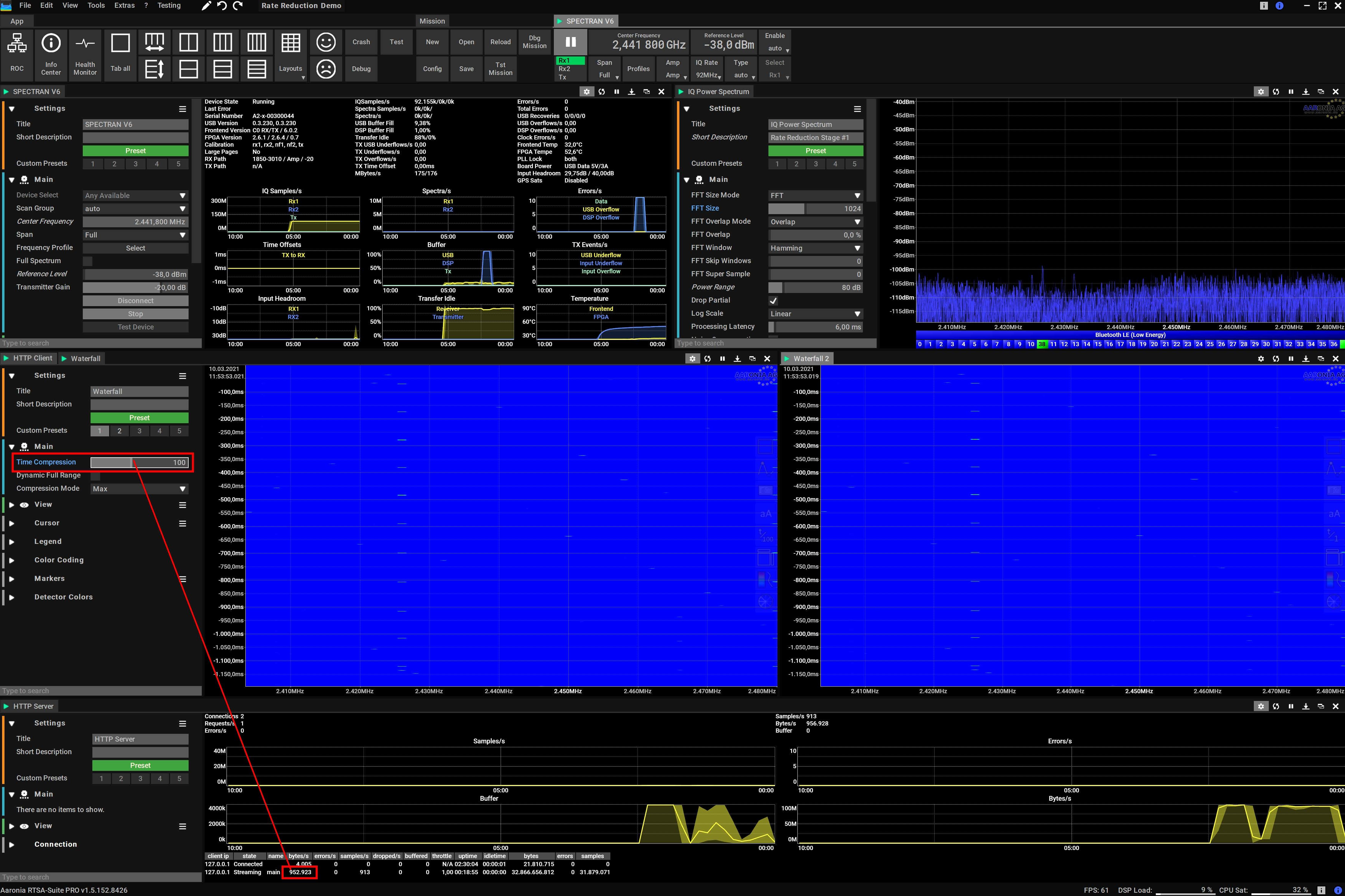 Reducing the Spectrum Data Load by factor 100!