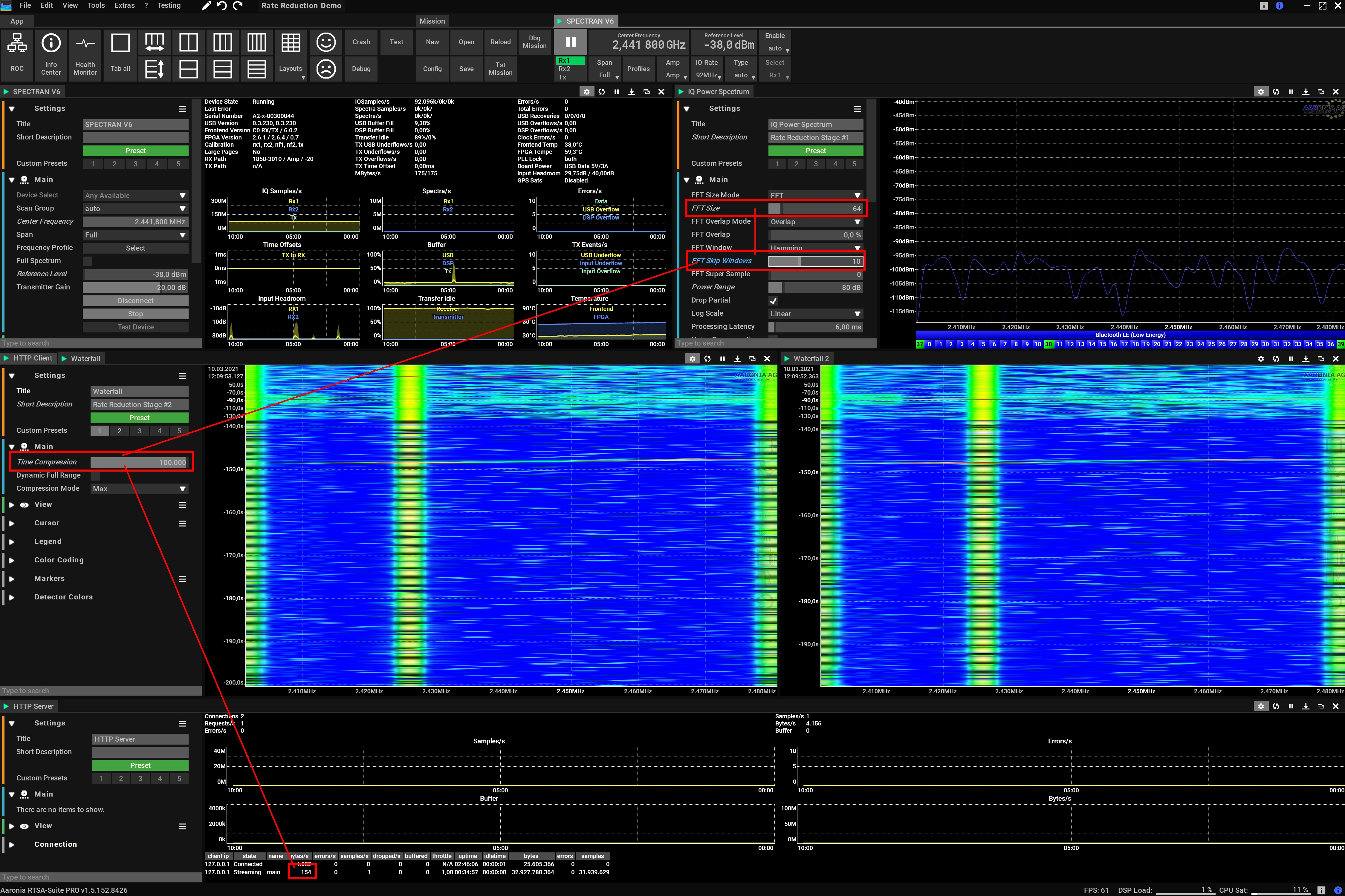 Lowest Possible Data Rate for RF Monitoring