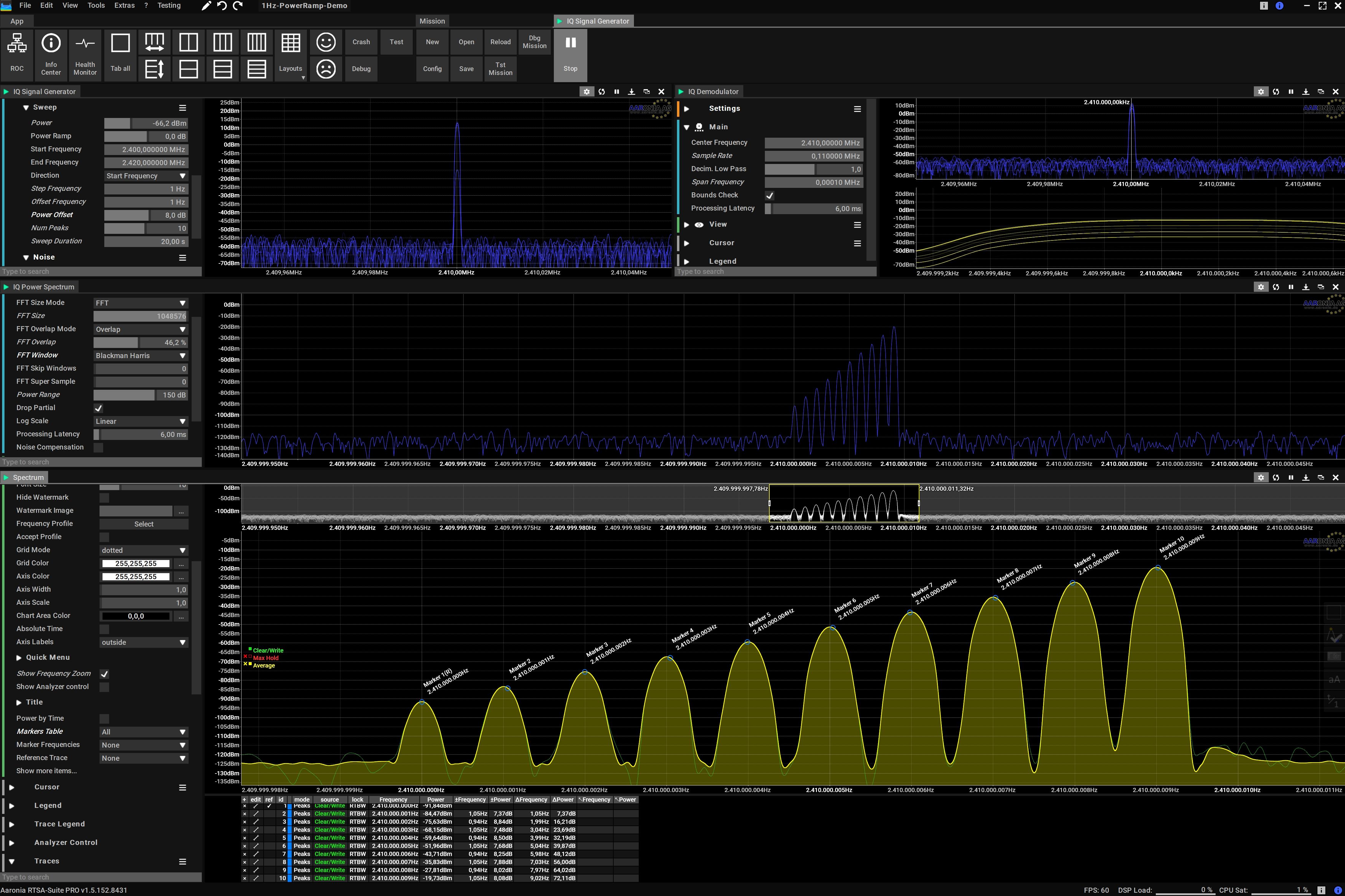 IQ Signal Generator with 1Hz Resolution