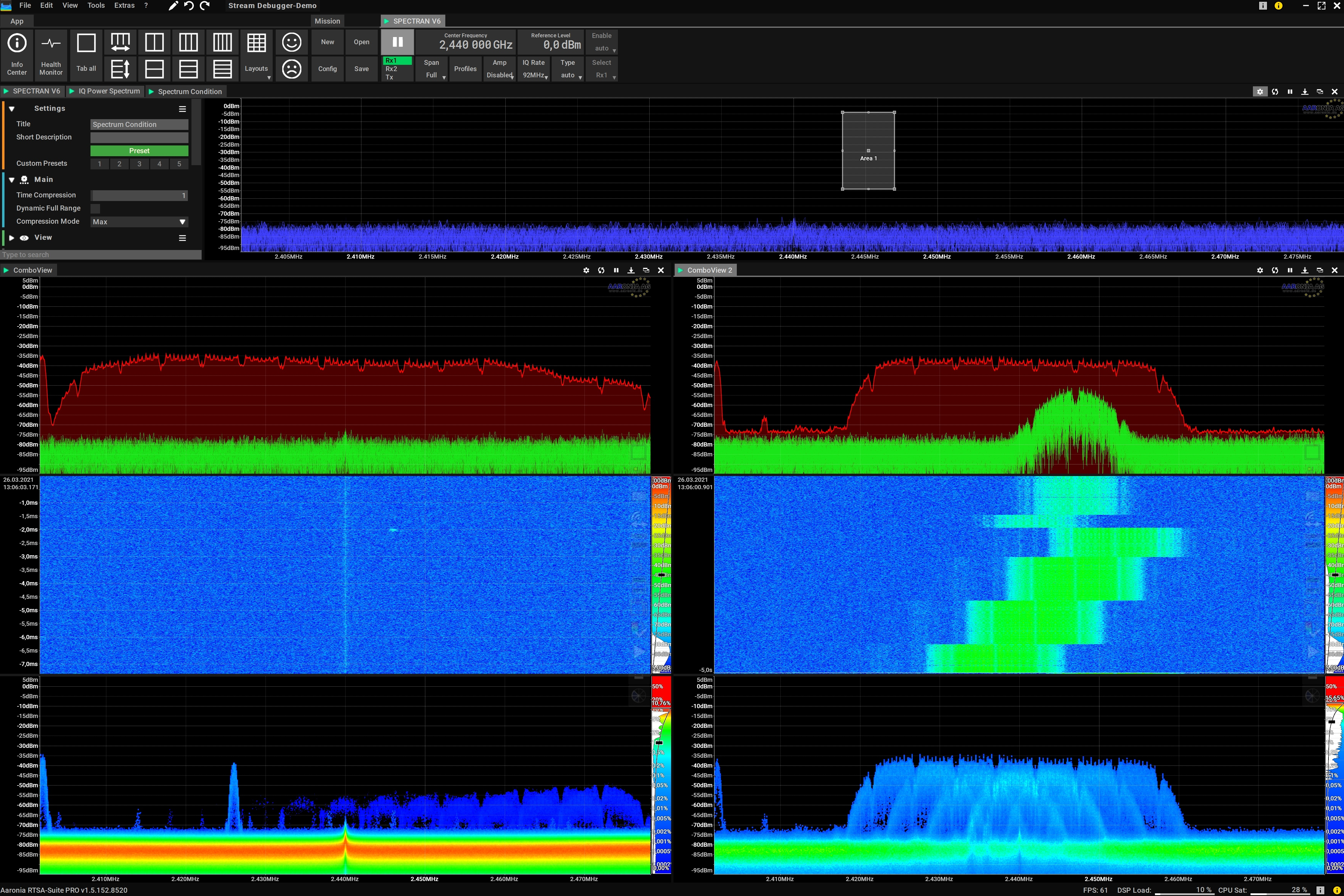 Spectrum Condition Block multiple Trigger Outputs