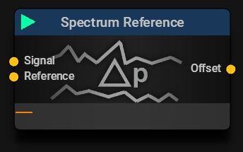 Spectrum Reference Block   Compare two Spectra and get the Delta