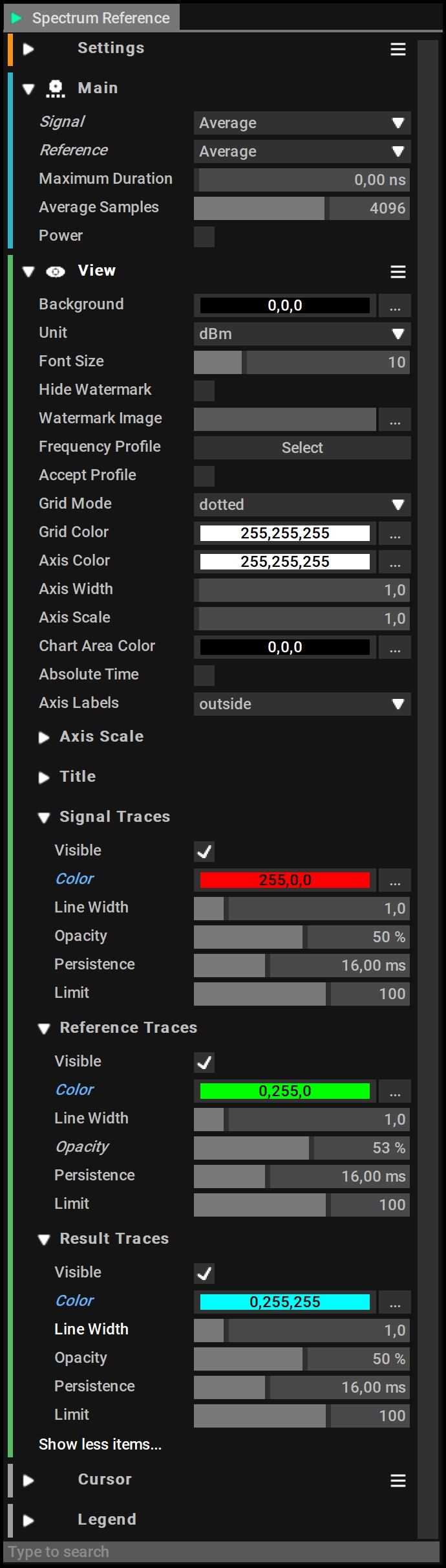 Spectrum Reference Settings   Perfect for Bug Detetion