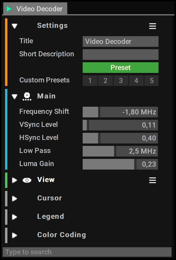 Analog Video Decoder Setups