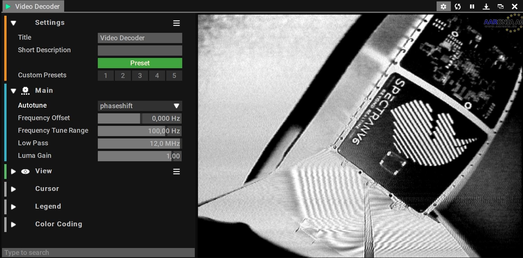 Automatic Analog Video Decoding