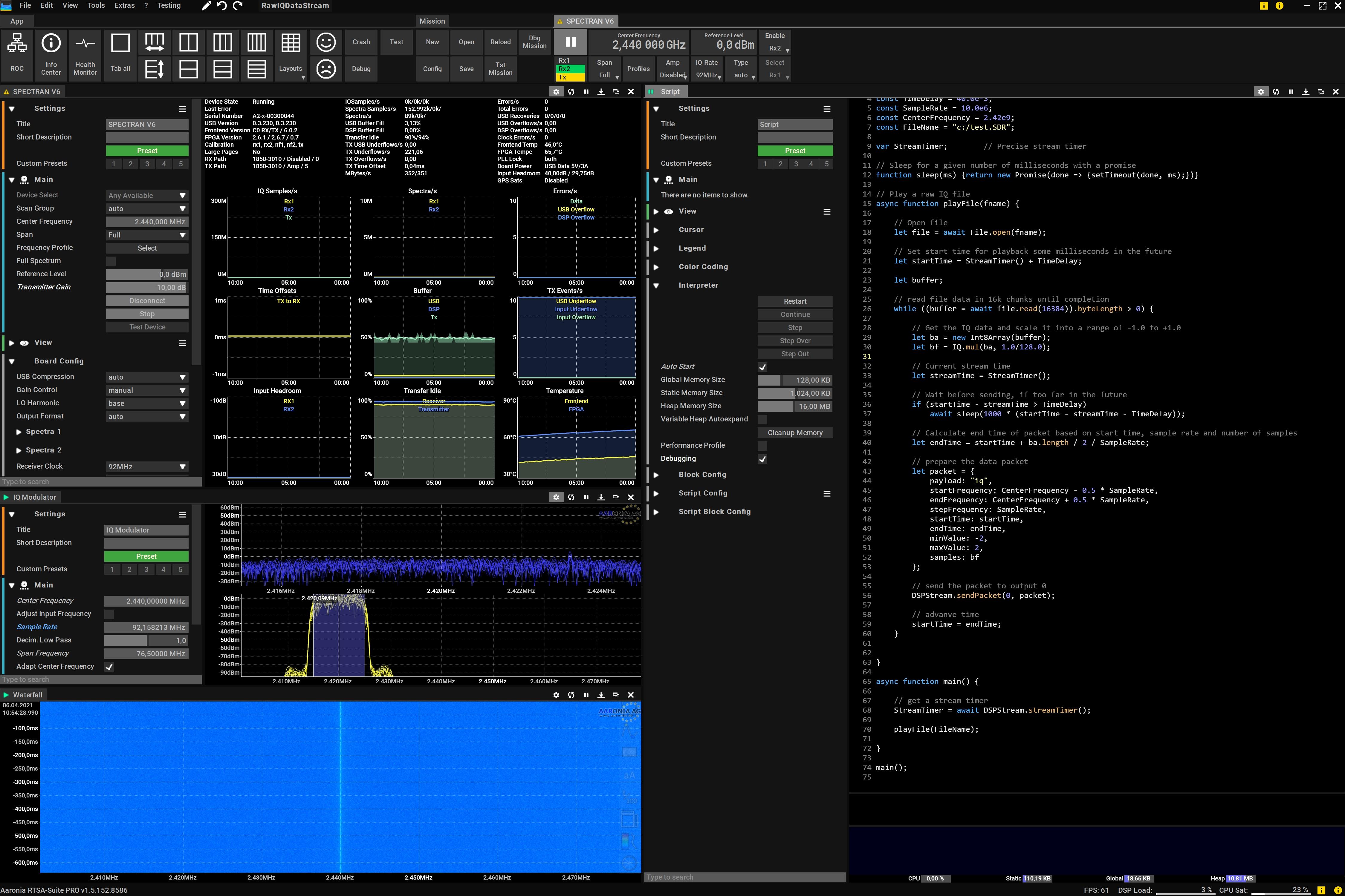 Import HackRF IQ Data to the Vector Signal Generator