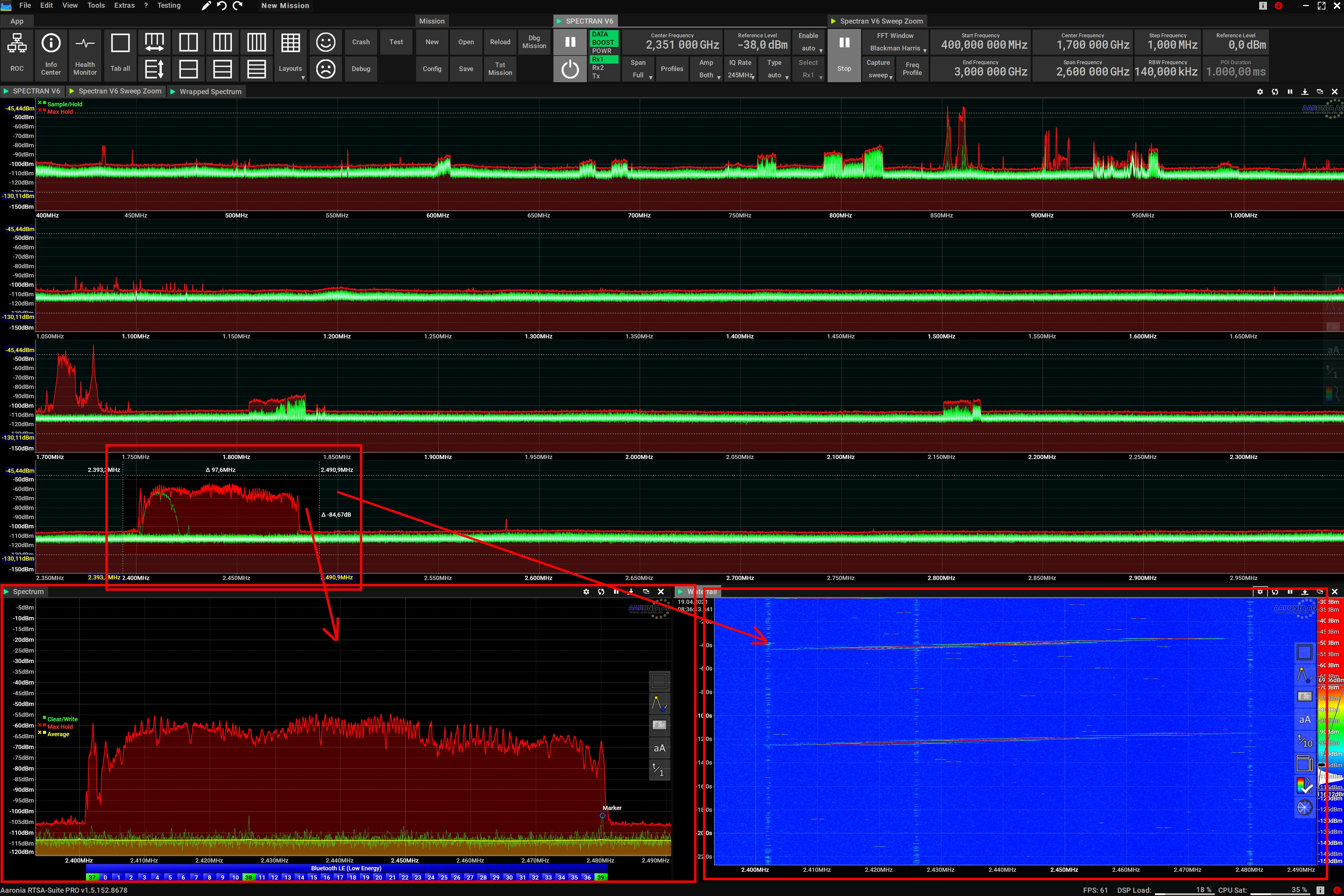 Spectrum Monitoring with ultra high resolution