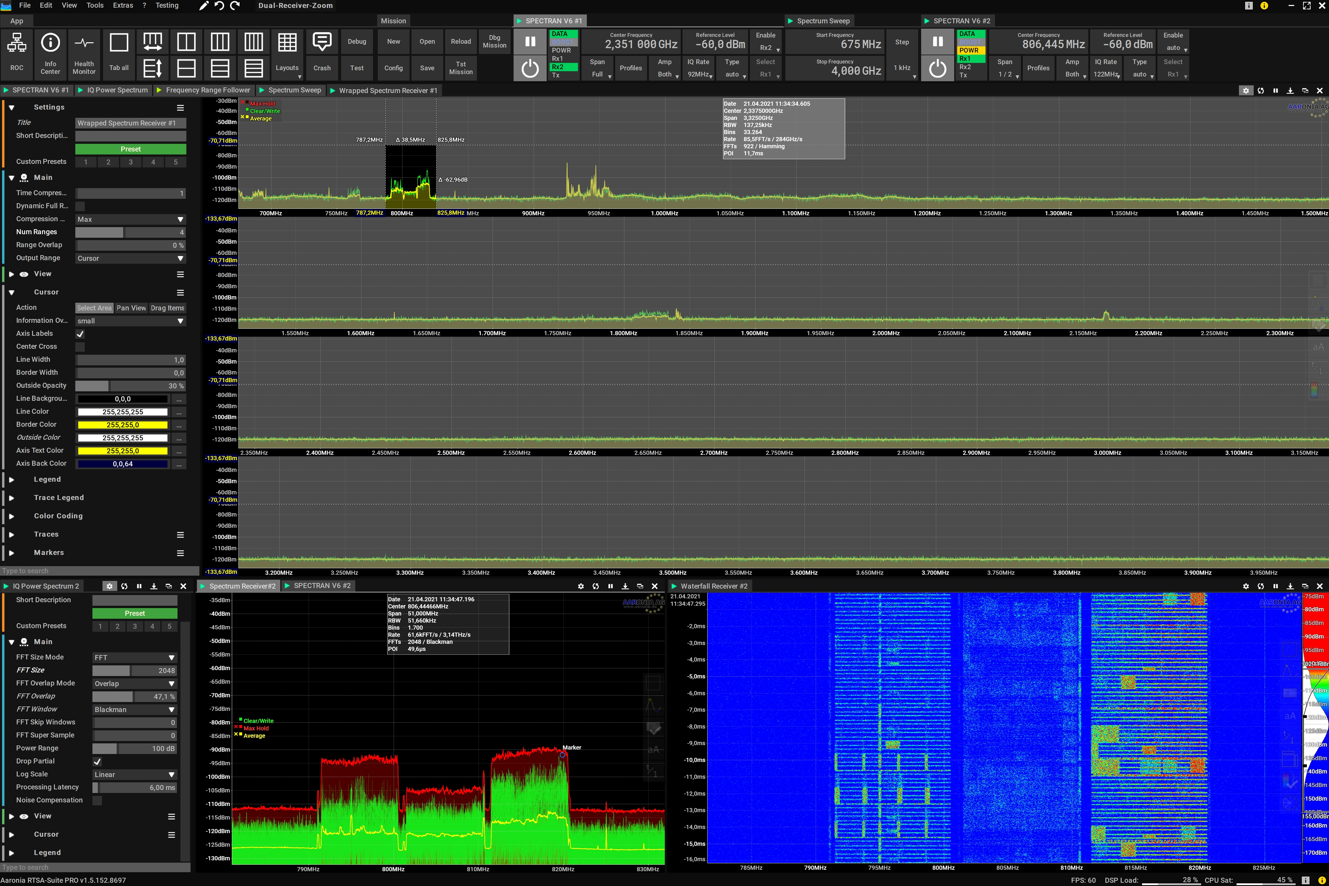 Real-Time Cursor within a Full Span Frequency Sweep