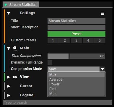 Stream Statistics Setup