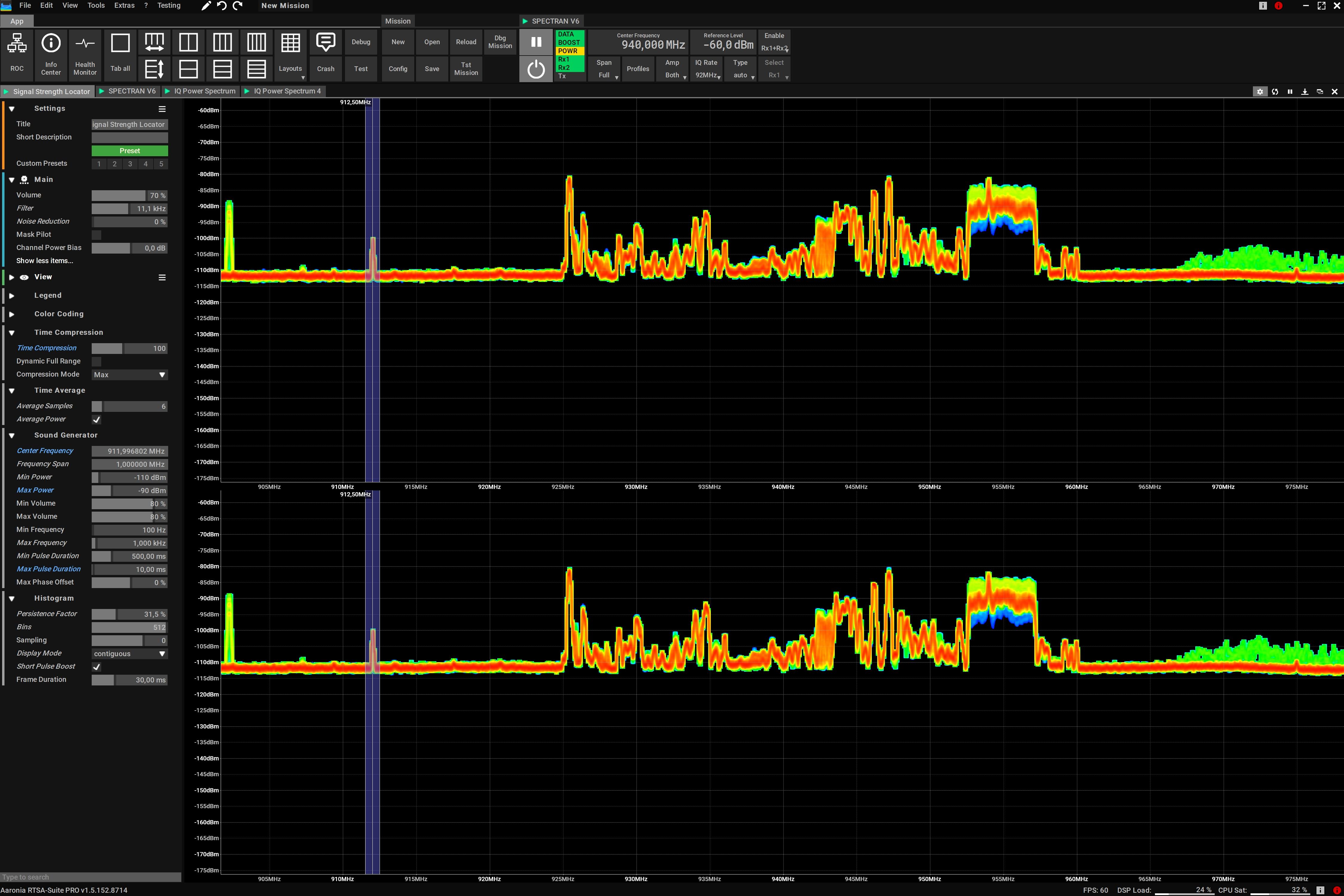 Advanced RF Bug Detection via double Rx