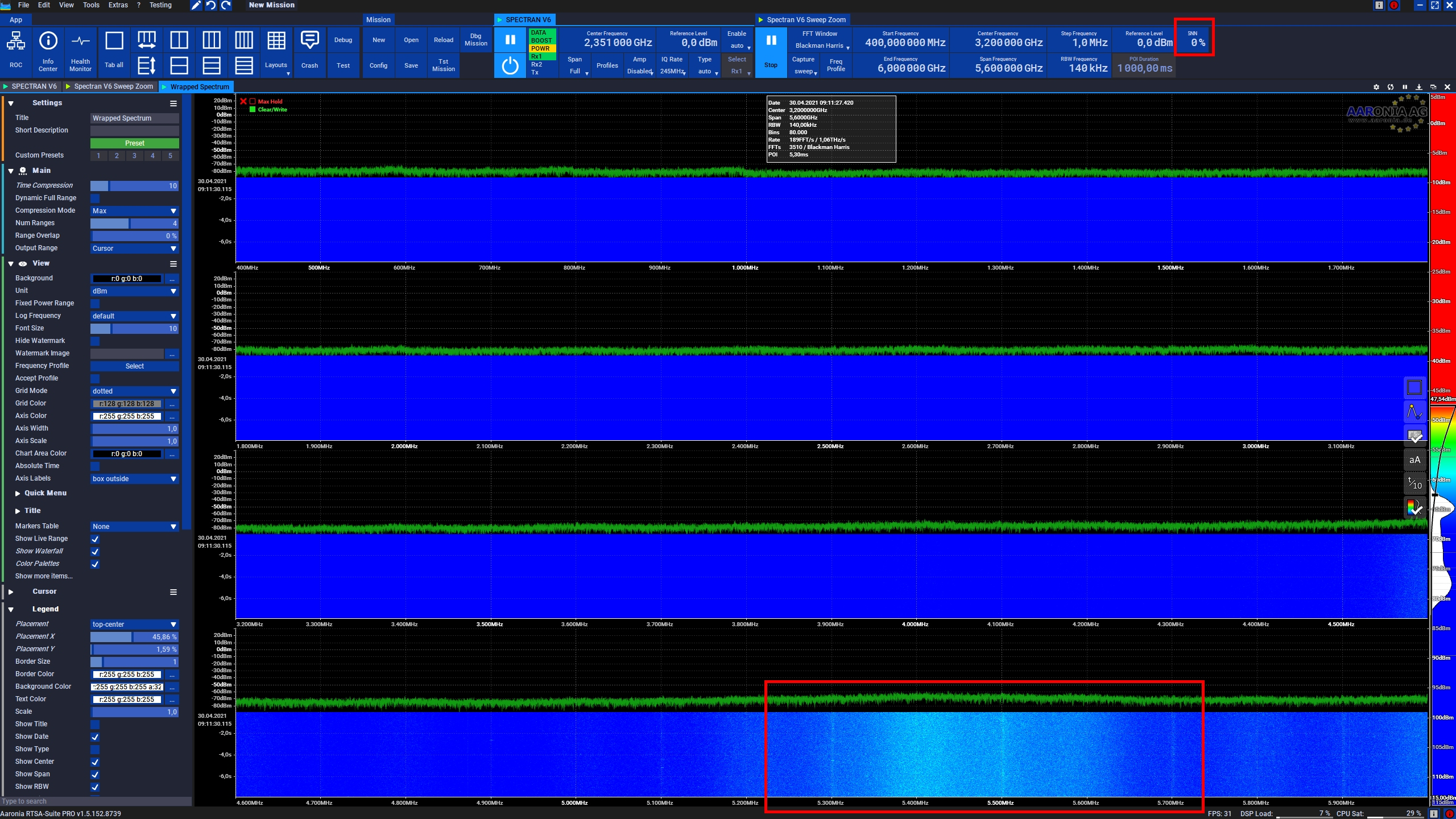 Wide Band Monitoring without floor smoothing
