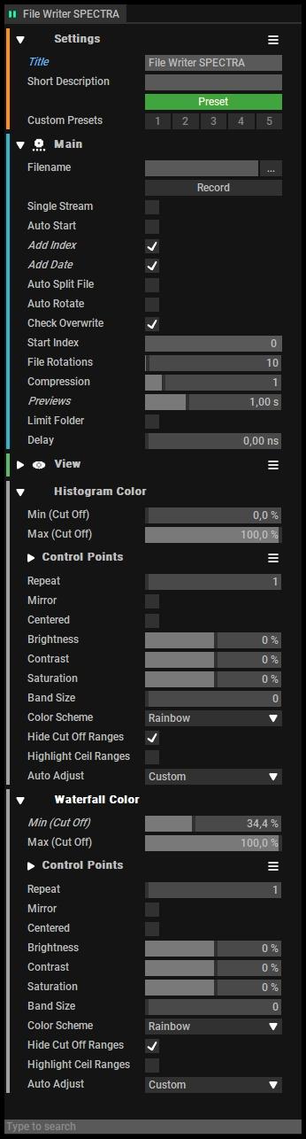 File Writer Setup