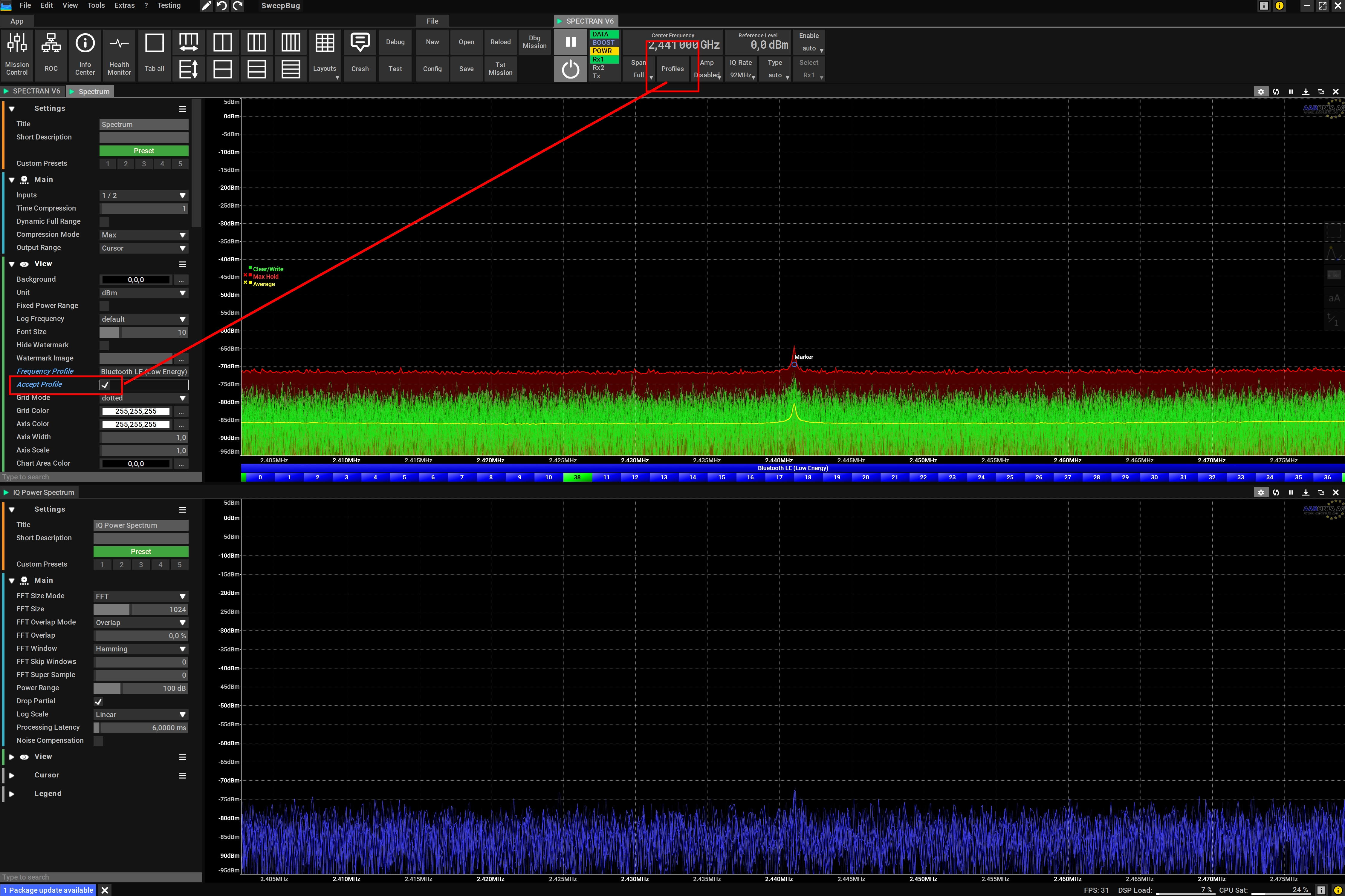 Automatic RF Channel Selection
