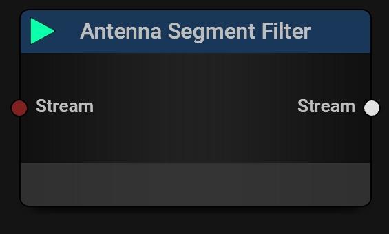 Antenna Segment Filter Block   Filter data from selected segments