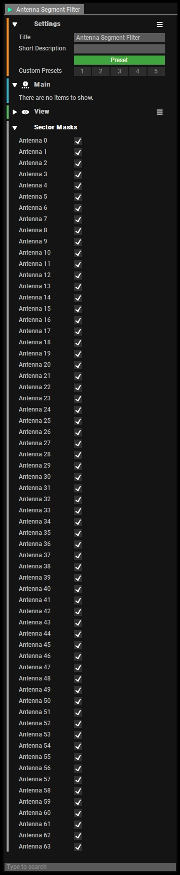 Select the antenna(s) from interest
