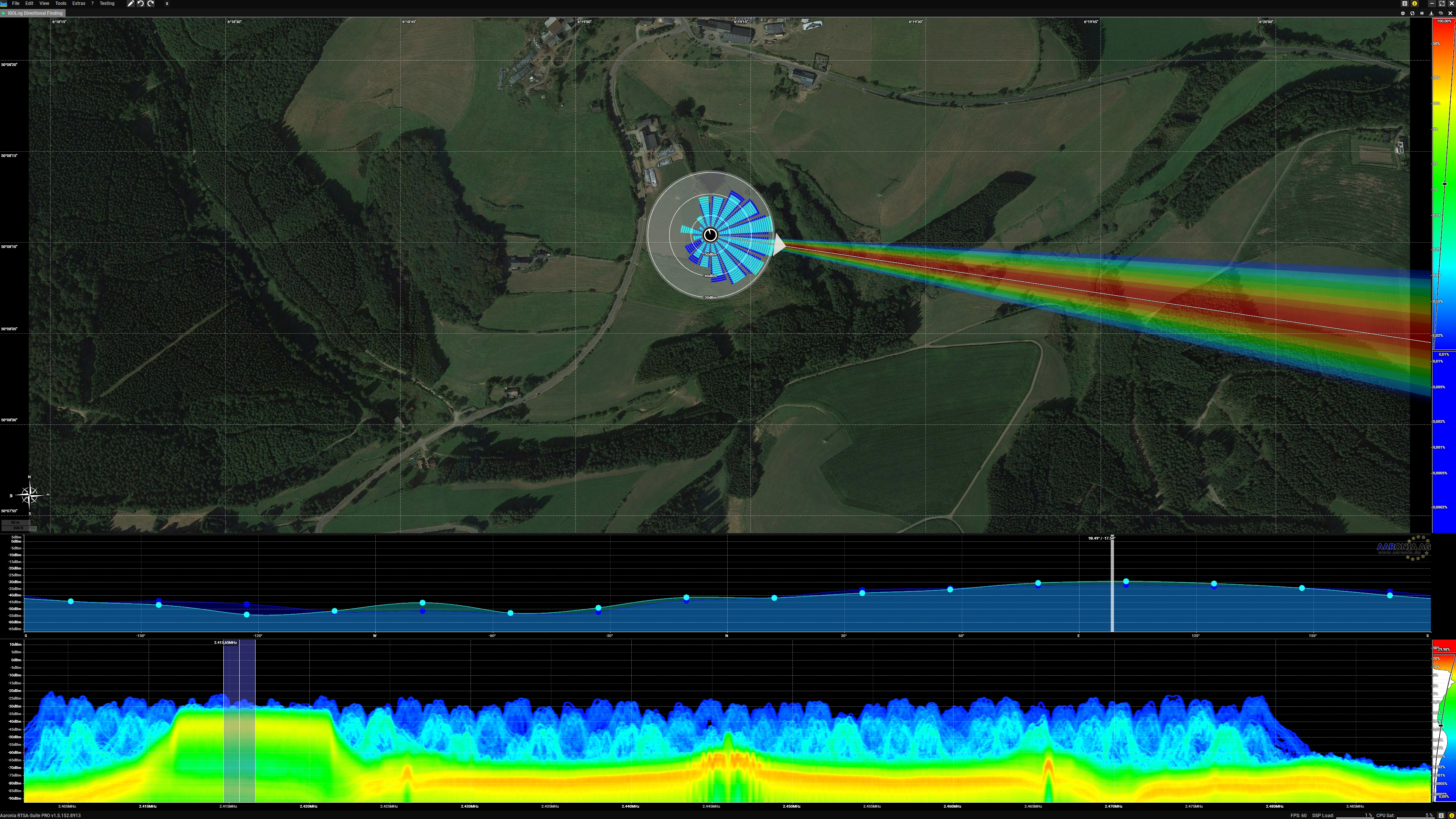 Directional Finding incl. GPS, Map and Direction Histogram
