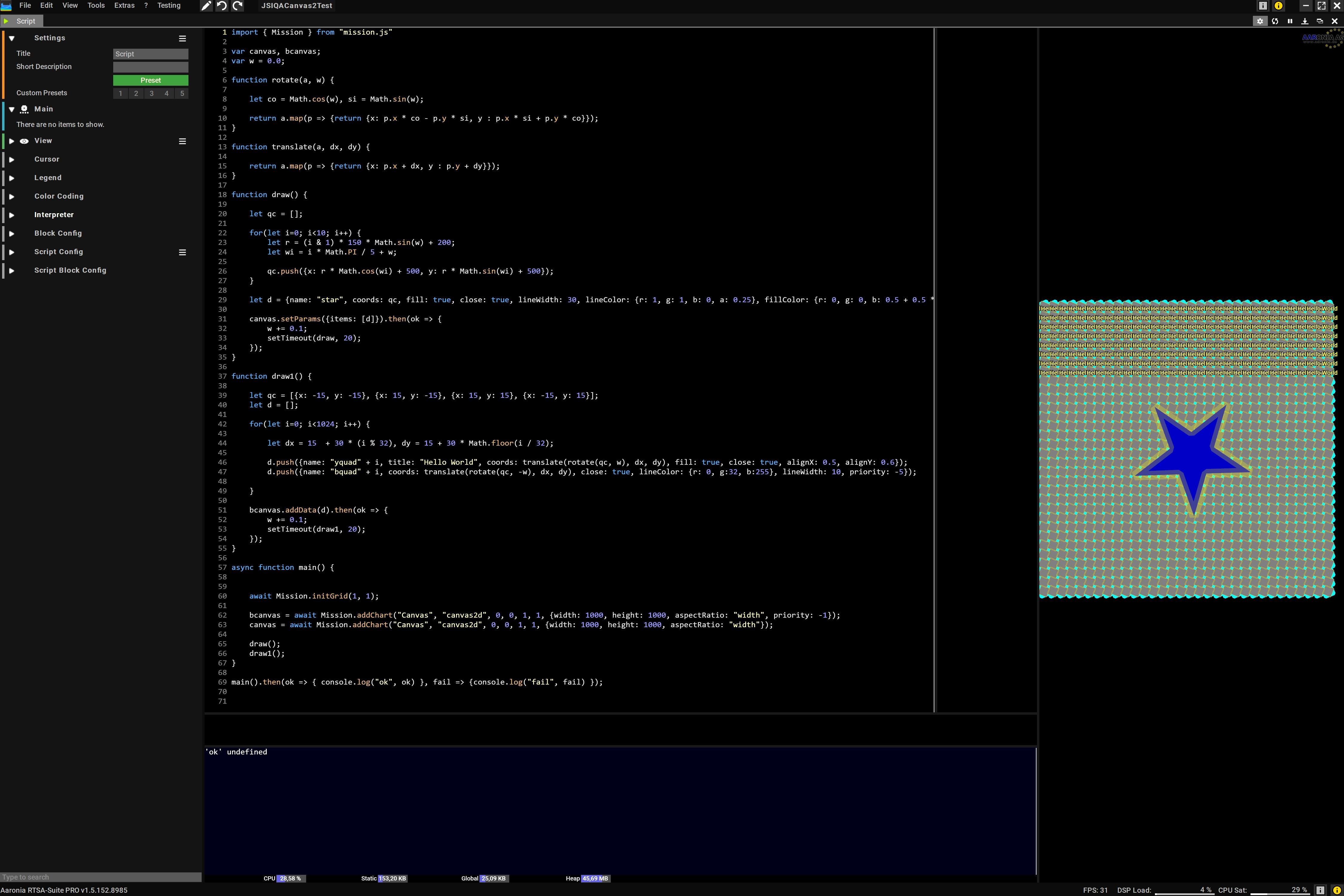 Complex Canvas2D Demo Script