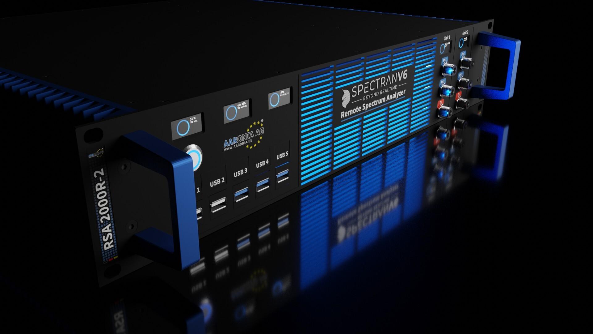 Remote RF Spectrum Analyzer with 500MHz IQ Bandwidth