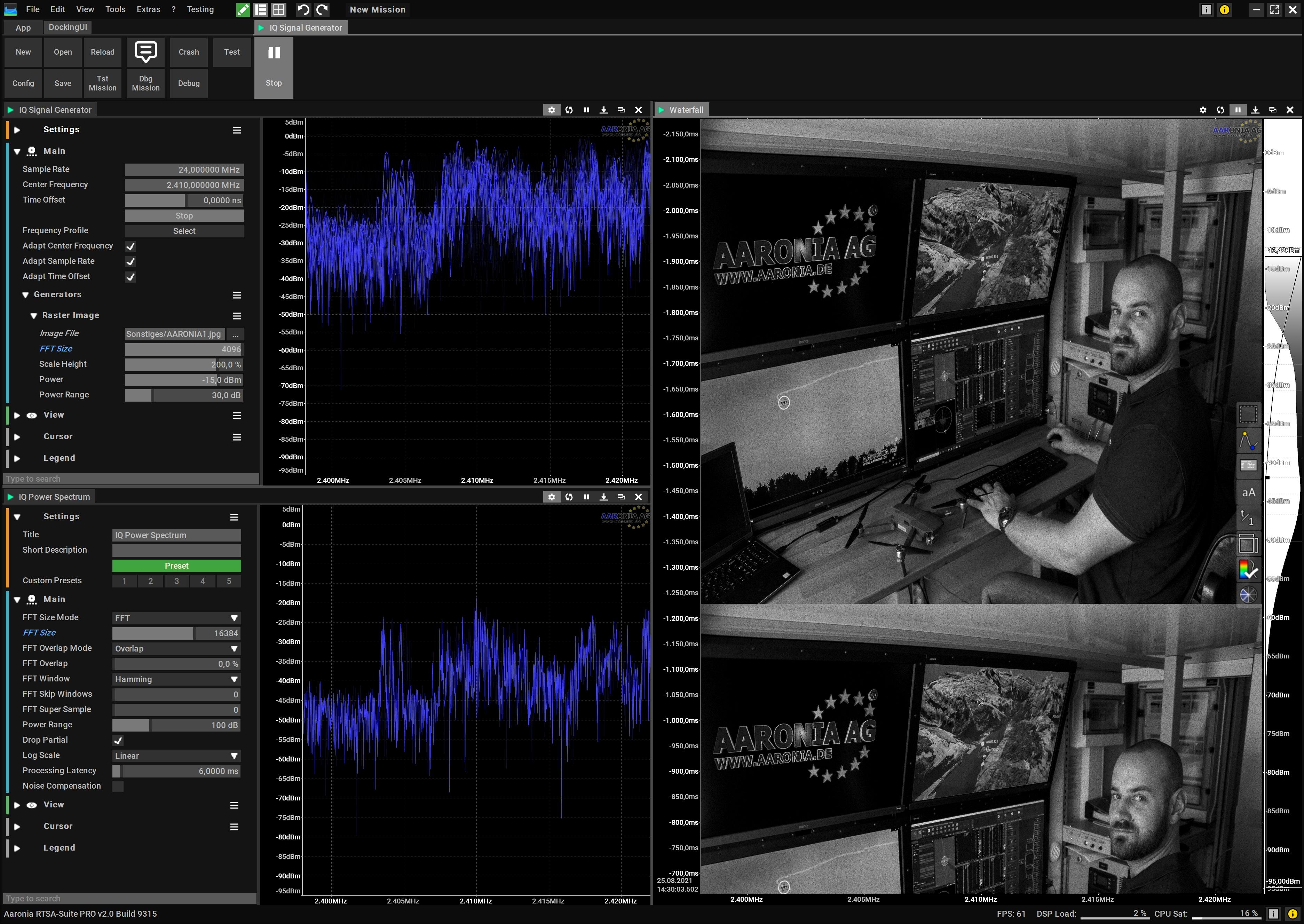 Bitmap to RF IQ data